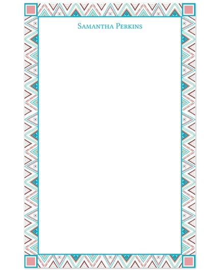 Zig Zag Stripes Note Pad