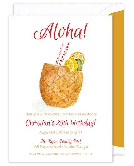 Pineapple Invitation