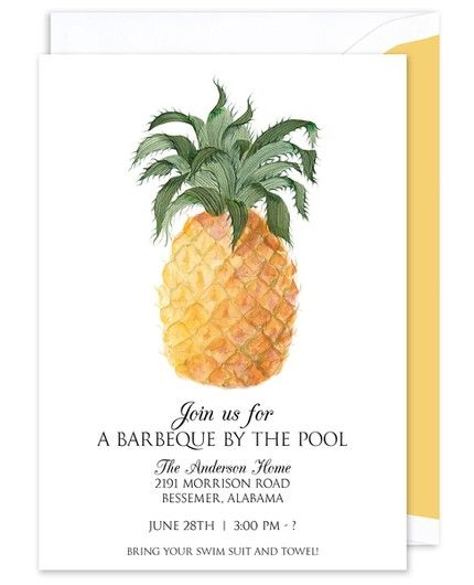 Pineapple Fruit Invitation