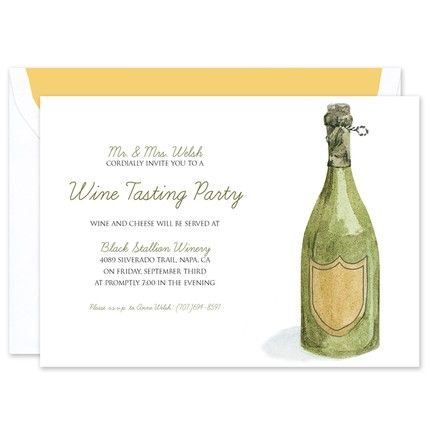Champagne Bottle Invitation