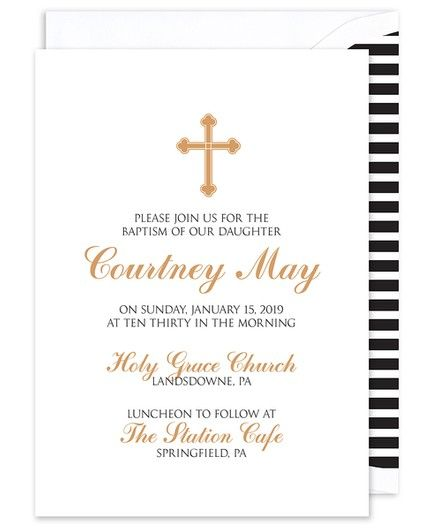 Gold Cross  Invitation