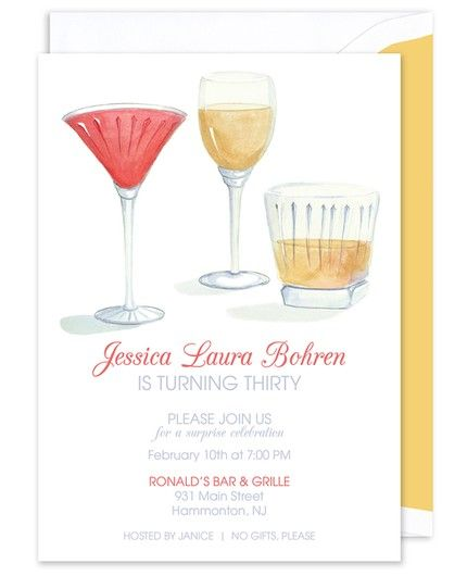 Brunch Cocktails Invitation