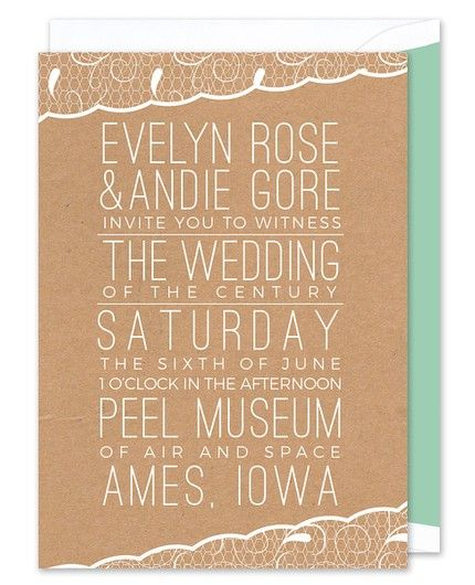Lace Trim Invitation