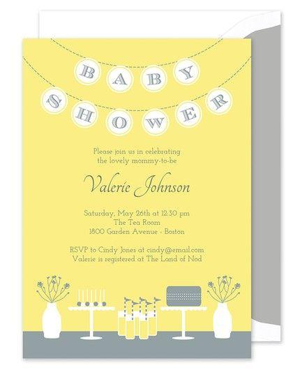 Yellow Banner Invitation