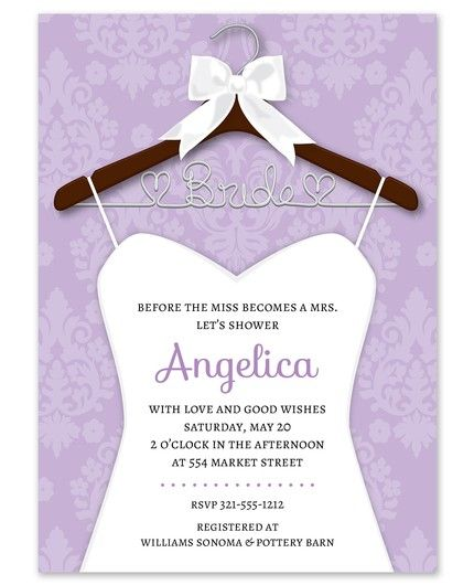 Bridal Hanger Invitation