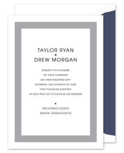Silver Stripes Invitation