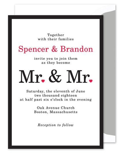 Mr. & Mr. Invitation