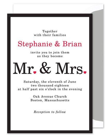 Mr. & Mrs. Invitation