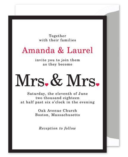 Mrs. & Mrs. Invitation