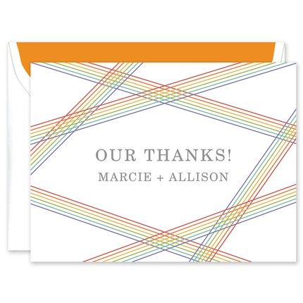 Rainbow Stripes Note Card