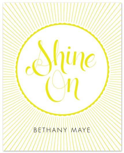 "8"" x 10""  Shine On Print"