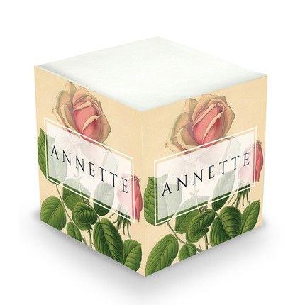 Rose Sticky Note Cube