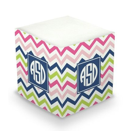 Chevron Sticky Note Cube