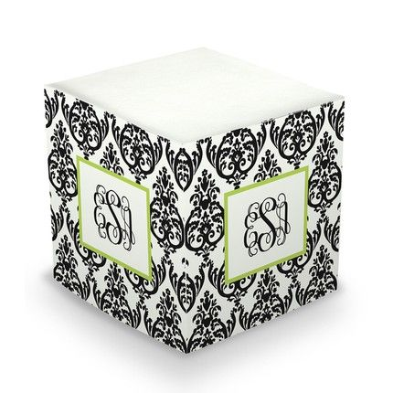 Damask Sticky Note Cube