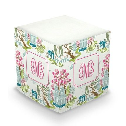 Chinoiserie Sticky Note Cube