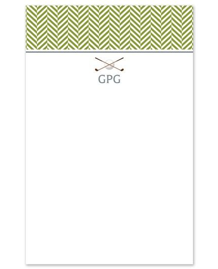 Golf Club Note Pad