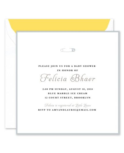 Soft Gray Pin Invitation