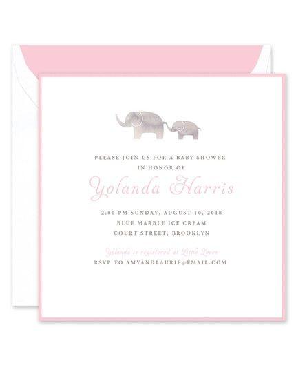 Pink Elephant Invitation