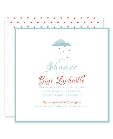 Heart Shower Invitation