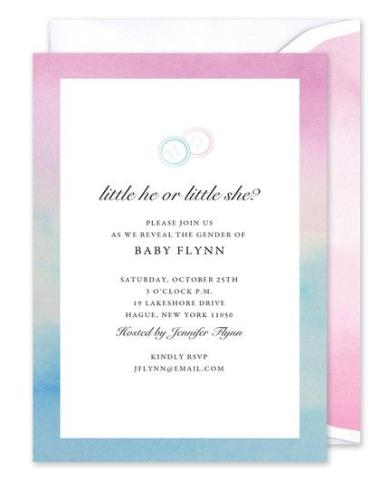 Watercolor Border Invitation