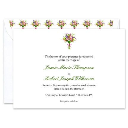 Spring Bouquet Invitation