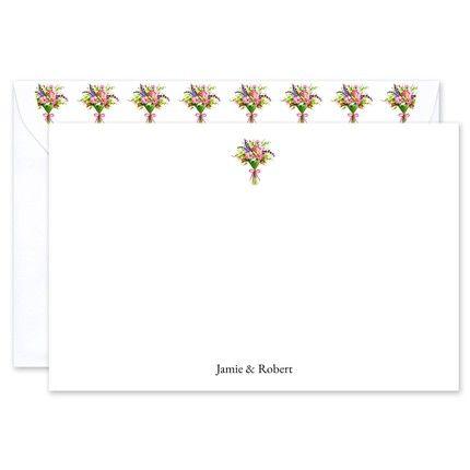 Spring Bouquet Flat Card
