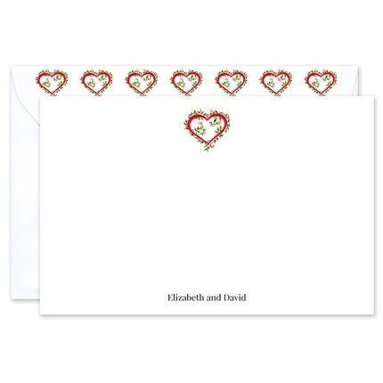 Floral Heart Flat Card