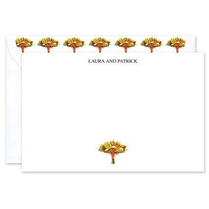 Autumn Bouquet Flat Card
