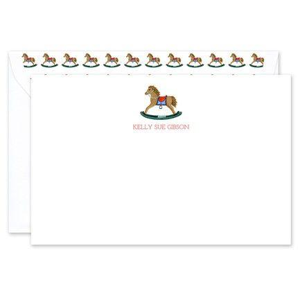 Rocking Horse Flat Card