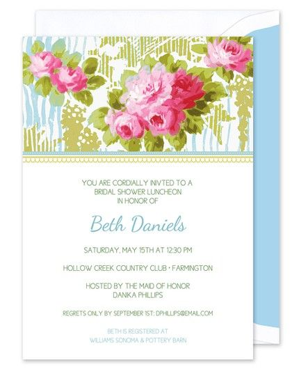 Spring Floral Invitation