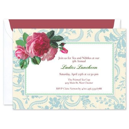 Tea Time Floral Invitation