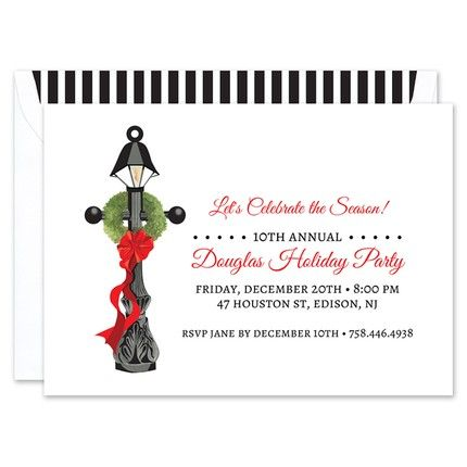 Wreath Lamp Post Invitation