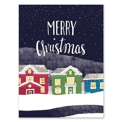 Snowy Street Greeting Card