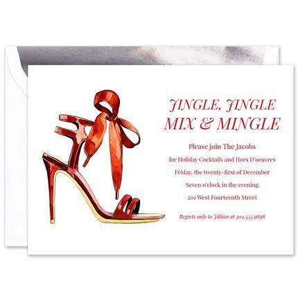 Festive Heel Invitation
