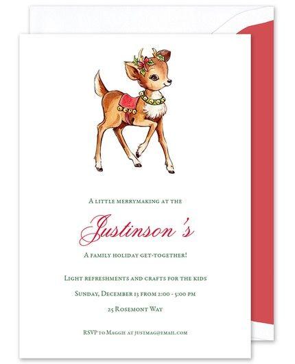 Rudolph Invitation