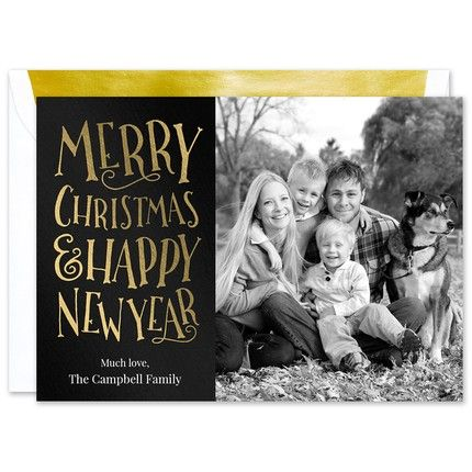 Merry Wishes Photo Card