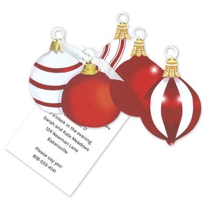 Five Ornament Invitation