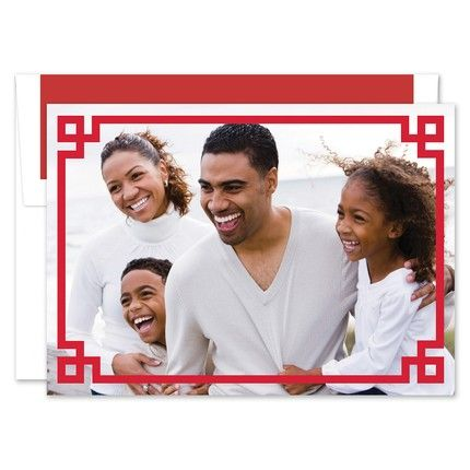 Red Corner Key Photo Card