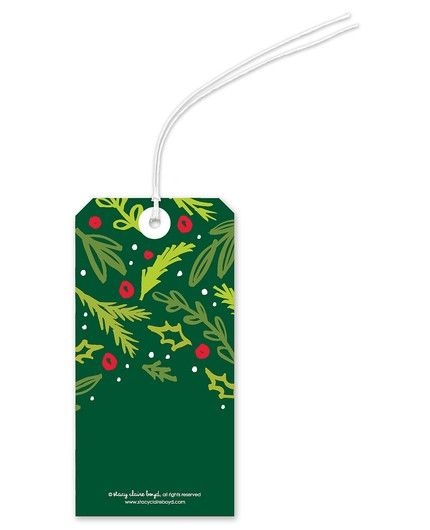 Joyful Boughs Gift Tag