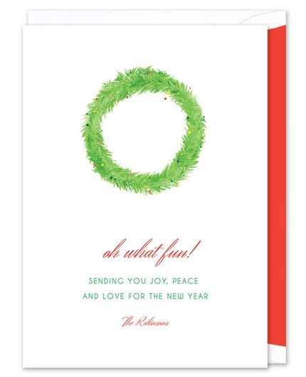 Festive Wreath Greeting Card
