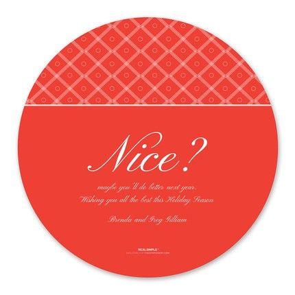 Naughty & Nice Greeting Card
