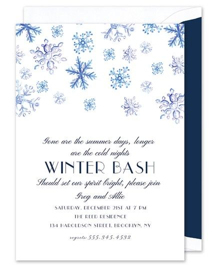 Snowfall Invitation