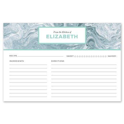 Blue Marble Recipe Card