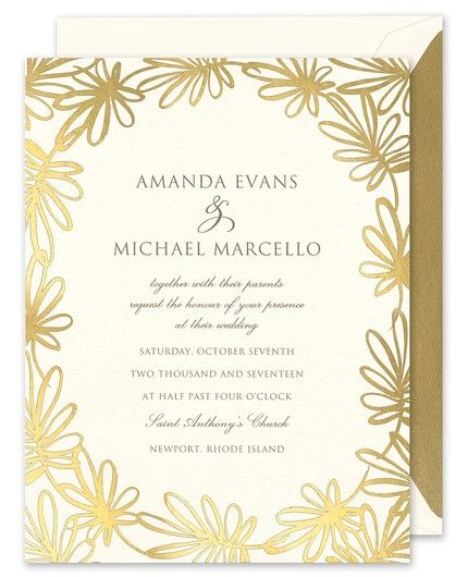 Golden Whimsy Invitation