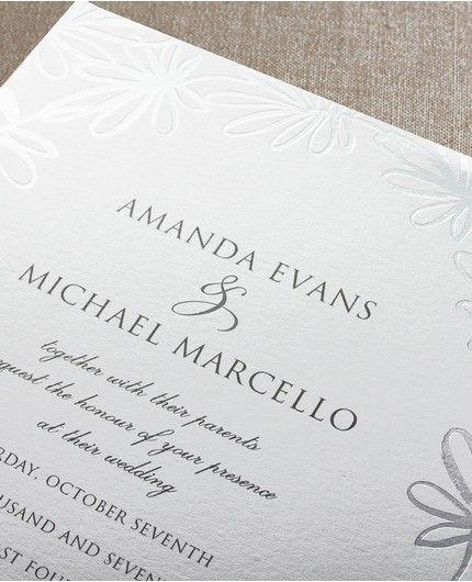 Silver Whimsy Invitation