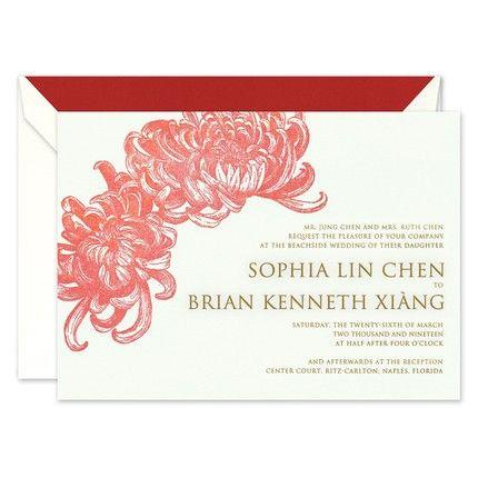 Chrysanthemum Invitation