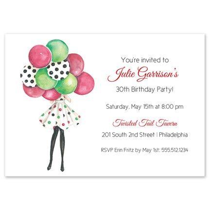 Festive Balloons Invitation