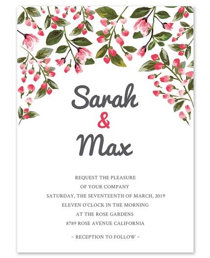 Romantic Vines Invitation