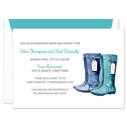 Rain Boot Shower Invitation