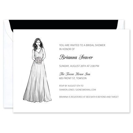 A-Line Gown Invitation
